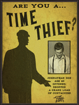 Fink MFG Are You A Time Thief Billboard