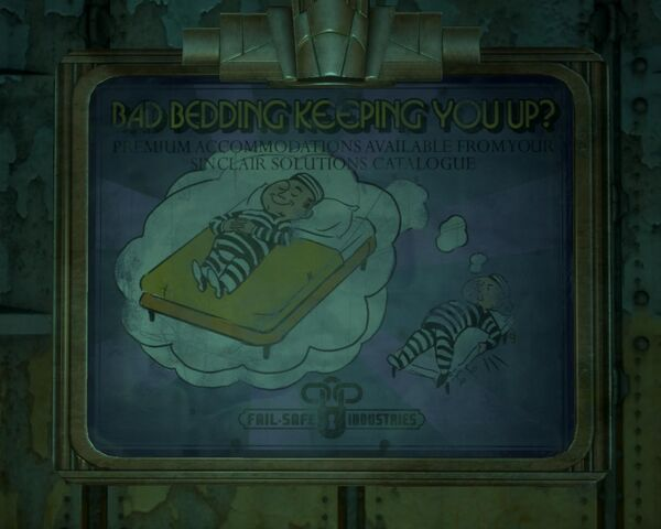 File:BioShock 2-Inner Persephone - Fail-Safe Industries advertising bed f0357.jpg