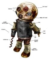 Early Concept Art of Big Daddy Doll