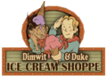 Dimwit and Duke Ice Cream Shoppe Marquee.png