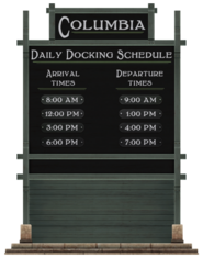 Columbia Daily Docking Schedule
