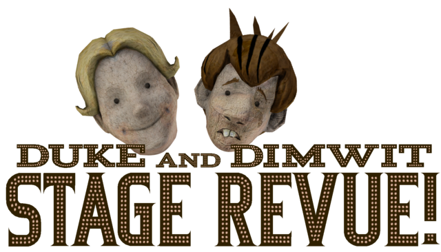 File:Duke and Dimwit Stage Revue sign and heads.png