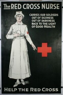 Red Cross Nurse poster