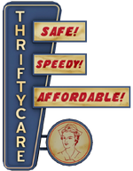 Thrifty Care Sign