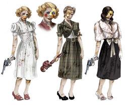 BaS Female Splicers Concept Art