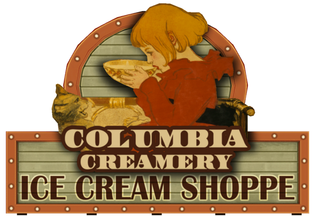 File:Columbia Creamery Sign.png