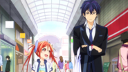 Enju and Rentaro shopping