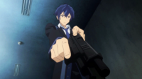 Rentaro gets ready to enter the room