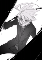 BlazBlue Bloodedge Experience Part 1 (Black and white illustration, 7)