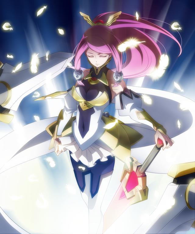 File:Tsubaki Yayoi (Chronophantasma, Arcade Mode Illustration, 3, Type A).png