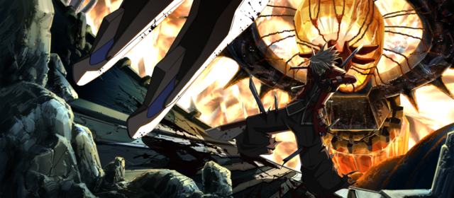 File:Ragna the Bloodedge (Calamity Trigger, Arcade Mode Illustration, 2).png