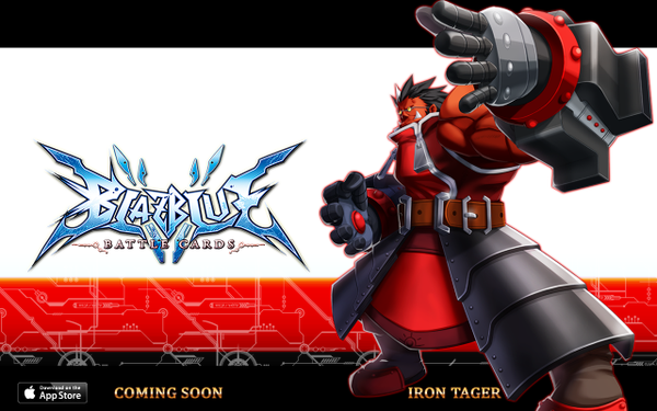 File:BlazBlue Battle Cards (Announcement of Iron Tager).png