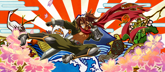 File:Bang Shishigami (Calamity Trigger, Arcade Mode Illustration, 4).png
