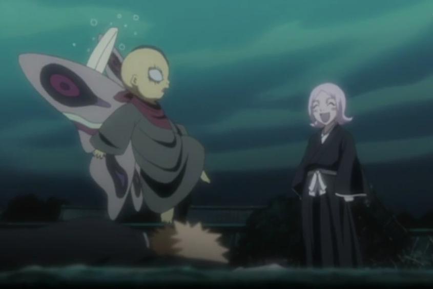 Image - Yachiru scares Ashisogi Jizo.png | Bleach Wiki ...