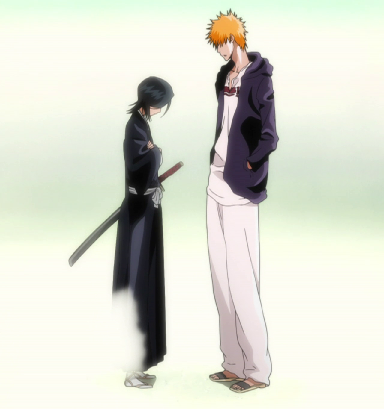 Image result for rukia disappears from ichigo's sight