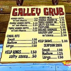 Menu del Crustacio Cascarudo