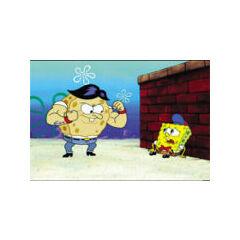 Bob de chico siendo golpeado por su primo