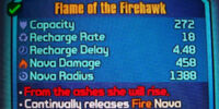 Flame of the Firehawk/Variant Chart