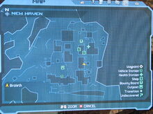 New Haven Map Location of Repair Kit