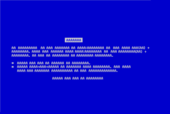 File:Blue Screen of AAAAA.jpg