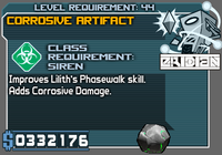 Level5SirenCorrosiveArtifact