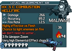 HX 3 C Combustion HellFire
