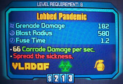 Vladof Lobbed Pandemic