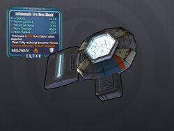 LV 28 Inflammable Fire Nova Shield