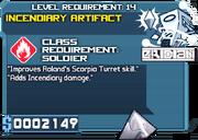 Artifact incendiary lvl1