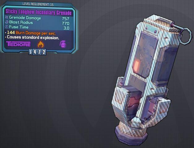 File:Grenade(Tediore) Sticky-Longbow-Incendiary lvl15.jpg