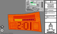 Wallow panel digital clock