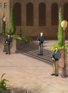The guards at the Monastery