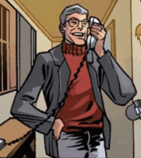 George on phone with agent