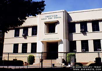 Whittier High School - Whittier High School - Futurepedia - The Back to the Future Wiki - Whittier High School is a public high school in Whittier, California. U.S. President   Richard Nixon (class of '30) was one of the school's prominent alumni.