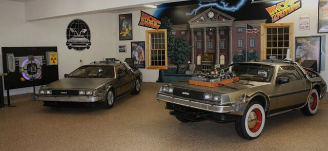 File:DeLorean-BTTF3 joins her sister in the barn.jpg