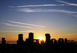 Summer Solstice Sunrise over Stonehenge 2005