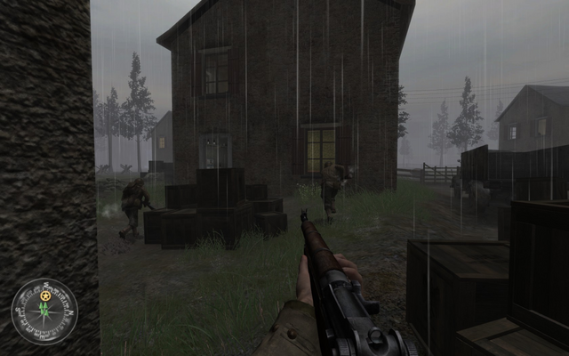 File:Entering first house Approaching Hill 400 CoD2.png