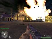 Call of Duty-German Flak Panzer destroyed