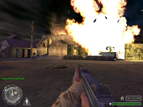 File:Call of Duty-German Flak Panzer destroyed.jpg