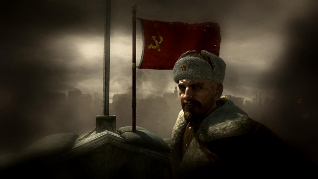 File:Reznov and Russian Flag Downfall WaW.png