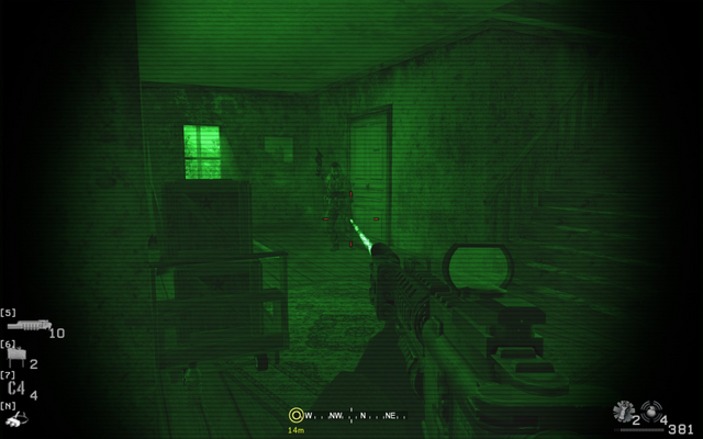 File:Engaging second enemy troop in house Blackout CoD4.png