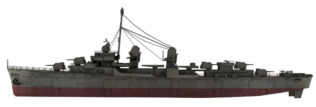 File:Fletcher-class destroyer model side WaW.png