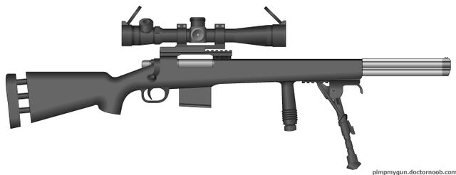 File:PMG M24 with Smith and Wesson barrel fires a 5.56.jpg