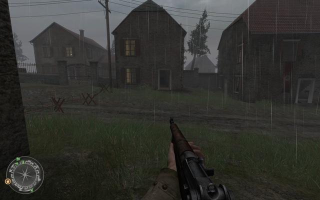 File:House to left of swastika house Approaching Hill 400 CoD2.png