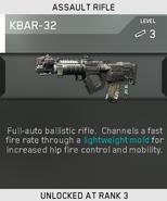 KBAR-32 Unlock Card IW
