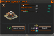 Gold Miner Level 3 Upgrade Stats CoDH