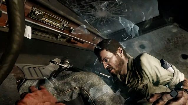 File:Mason and Woods, Dodging Gunfire in the Car, Operation 40.JPG