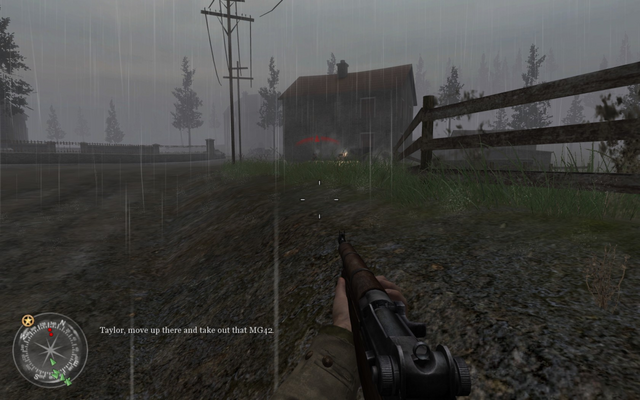 File:Enemy MG on dirt road Approaching Hill 400 CoD2.png