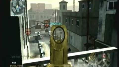 Modern Warfare 3 Wii Golden Gun Showcase Episode V MG36