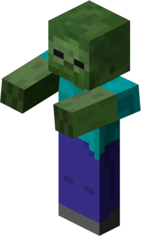 File:Minecraft Zombie.png